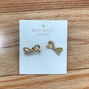 NWT Kate Spade Gold Bow Earrings